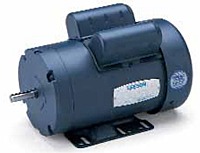 Leeson Single Phase Totally Enclosed Fan Cooled (TEFC) Motors