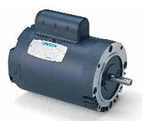 Leeson Single Phase C Face less Base Drip-Proof Motors