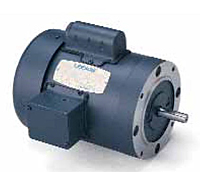 Leeson Single Phase C Face less Base TEFC Motors