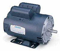 Leeson Single Phase C Face with Base Drip-Proof Motors