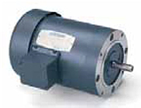 Leeson Three Phase C Face Less Base TEFC Motors