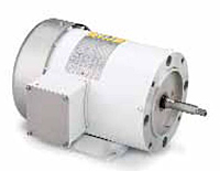 Leeson Three Phase TEFC C Face Less Base Jet Pump Washguard Motors secondary