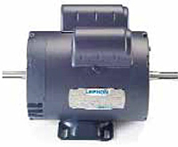 Leeson Double-Shaft Single Phase Drip-Proof Rigid Base Contractors' Power Tool Motors
