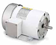 Leeson Three Phase TENV and TEFC C Face with Base Washguard Motors